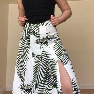 H&M tropical print long skirt